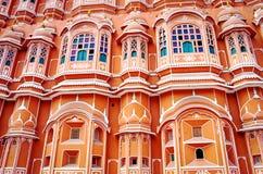 Palazzo di Hawa Mahal (palazzo dei venti) a Jaipur, Ragiastan immagine stock libera da diritti