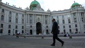 Palazzo di Hofburg a Vienna video d archivio