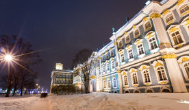 Palazzo di inverno di Rastrelli Fotografia Stock Libera da Diritti