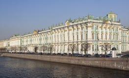 Palazzo di inverno, a St Petersburg. Fotografie Stock