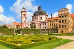 Palazzo di Jaromerice in Moravia meridionale, repubblica Ceca fotografia stock libera da diritti