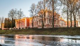 Palazzo di Jelgava o palazzo di Mitava in Lettonia Fotografie Stock Libere da Diritti