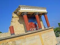 Palazzo di Knossos fotografie stock libere da diritti