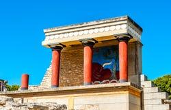 Palazzo di Knossos a Crete, Grecia Fotografia Stock Libera da Diritti