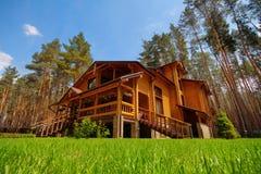 Palazzo di legno Immagine Stock