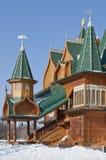 Palazzo di legno in Kolomenskoe Immagine Stock Libera da Diritti