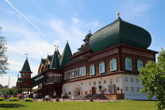 Palazzo di legno in Kolomenskoe, Mosca Immagine Stock Libera da Diritti
