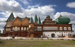 Palazzo di legno a Mosca Fotografia Stock Libera da Diritti