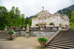 Palazzo di Linderhof in Baviera Germania, uno dei castelli di ex re Ludwig II Fotografie Stock Libere da Diritti