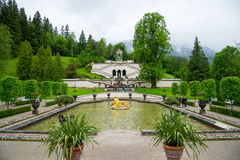 Palazzo di Linderhof in Baviera Germania, uno dei castelli di ex re Ludwig II Immagine Stock