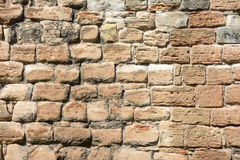 Palazzo di Linlithgow, muro di mattoni Immagine Stock