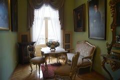 Palazzo di Lodz Polonia Israel Poznanski - salone privato immagine stock
