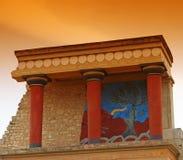 Palazzo di Minoan a Knossos Immagine Stock