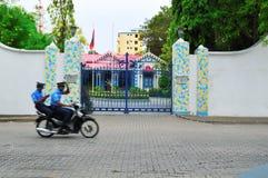 Palazzo di Muleeaage nei Maldives Immagine Stock Libera da Diritti