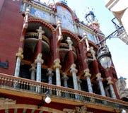 Palazzo di musica a Barcellona Immagine Stock Libera da Diritti