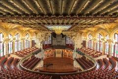 Palazzo di musica catalana a Barcellona, Catalogna Immagini Stock