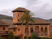 Palazzo di Nasrid nel castello di Alhambra, Granada immagini stock libere da diritti