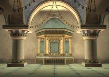palazzo di Orientale dell'illustrazione 3d Fotografie Stock Libere da Diritti