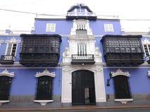 Palazzo di Osambela nel centro storico di Lima, Perù Fotografia Stock Libera da Diritti