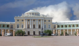 Palazzo di Pavlovsk in Russia fotografie stock