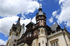 Palazzo di Peles, Romania Fotografia Stock Libera da Diritti