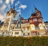 Palazzo di Peles in Romania Fotografia Stock Libera da Diritti