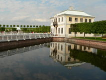Palazzo di Peterhof Marli Immagini Stock