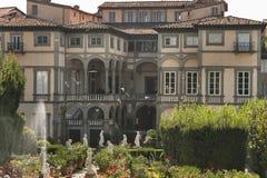 Palazzo di Pfanner, vista del giardino, Lucca, Italia Fotografia Stock