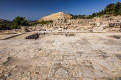 Palazzo di Phaistos fotografia stock libera da diritti