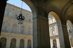 Palazzo di Pitti ed i giardini di Boboli in Florence Tuscany fotografia stock libera da diritti
