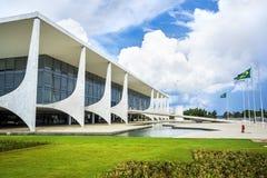 Palazzo di Planalto a Brasilia, Brasile Fotografie Stock Libere da Diritti