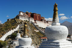 Palazzo di Potala a Lhasa, Tibet Fotografia Stock
