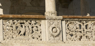 Palazzo di Potlogi di Constantin Brâncoveanu, contea di Dâmboviţa, Romania - dettaglio Fotografia Stock
