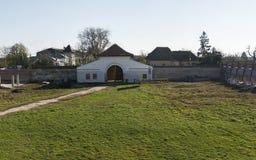 Palazzo di Potlogi di Constantin Brâncoveanu, contea di Dâmboviţa, Romania - vista del cortile Fotografia Stock