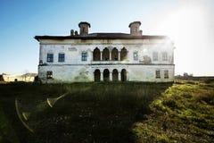 Palazzo di Potlogi di Constantin Brâncoveanu, contea di Dâmboviţa, Romania - vista frontale Immagini Stock Libere da Diritti