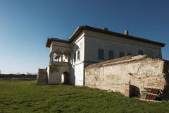Palazzo di Potlogi di Constantin Brâncoveanu, contea di Dâmboviţa, Romania - vista laterale Immagine Stock Libera da Diritti