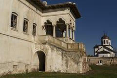 Palazzo di Potlogi di Constantin Brâncoveanu, contea di Dâmboviţa, Romania - vista laterale Fotografia Stock Libera da Diritti