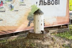 Palazzo di Potocki a Lviv immagine stock libera da diritti