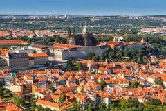Palazzo di Praga e st Vitus Cathedral. Immagine Stock