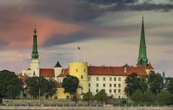 Palazzo di presidente in vecchia città di Riga, Lettonia, Europa Fotografia Stock