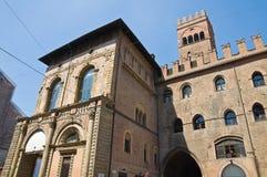 Palazzo di re Enzo. Bologna. L'Emilia Romagna. L'Italia. Fotografie Stock