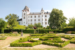 Palazzo di rinascita del Berg- del castello - Saarland-Germania Fotografia Stock