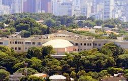Palazzo di São Paulo Goveror - retrovisione Fotografie Stock