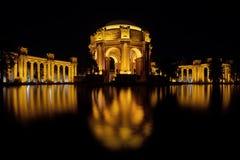 Palazzo di San Francisco della riflessione di arti Fotografie Stock Libere da Diritti