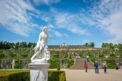 Palazzo di Sanssouci in Postdam, Germania Fotografia Stock