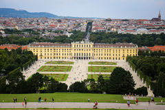 Palazzo di Schonbrunn a Vienna, Austria Fotografia Stock Libera da Diritti