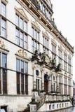 Palazzo di Schutting sul quadrato del mercato a Brema fotografia stock libera da diritti