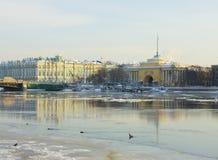 Palazzo di St Petersburg, di Ministero della marina e di inverno Immagini Stock Libere da Diritti
