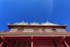 Palazzo di stile cinese di Wehart Chamrunt nel palazzo di dolore di colpo Fotografia Stock Libera da Diritti