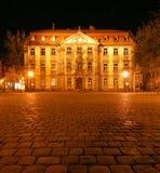 Palazzo di Stutterheim alla notte Fotografia Stock